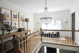 Dear Chandelier Cozying Up Our Upstairs Hallway Dear Lillie Studio