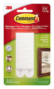How To Hang Fabric On Walls Without Nails by Command Picture And Frame Hanging Strips Large White 4 Pairs