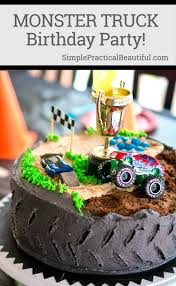 monster truck invitation monster truck birthday party simple practical beautiful