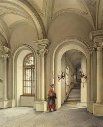 interiors of the winter palace the commandant entrance