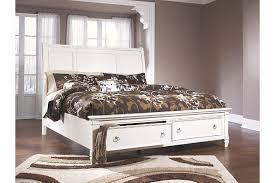 White Sleigh Bed Prentice Queen Sleigh Bed With Storage Ashley Furniture Homestore