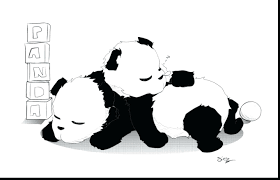 baby panda coloring pages coloring