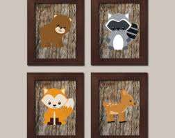 woodland nursery art woodland nursery decor forest animals