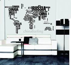 world map wall sticker the for learning study black world map wall sticker the for learning study black decor art words sayings vinyl decals free shipping