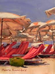 Two Beach Chairs Jonelle Summerfield Oil Paintings December 2013