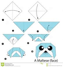 Step By Step Origami For - step by step how to make origami a illustration