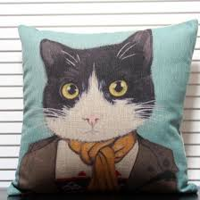 Accent Pillows For Sofa Decorative Cat Pillow For Couch Blue Sofa Throw Pillows Buytra Com