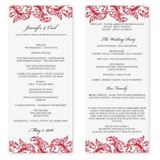 template for wedding ceremony program 14 best wedding programs images on weddings wedding