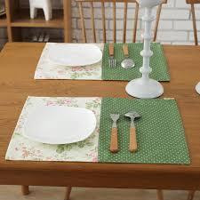 couture accessoire cuisine 4 pcs écologique coton linge napperon carré couture table à manger