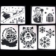 Christmas Window Decorations Spray by Aliexpress Com Buy 6pcs Set Merry Christmas New Year Spray