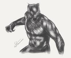 captain america black panther sketch by scottstrachanartist on