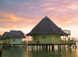 Tiki Hut On Water Vacation Affordable Overwater Bungalows Islands