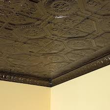 tin ceiling tile rochester in bronze burst 2x2 lay in