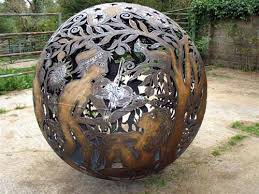 sculpture fireball iii large spherical outdoor statues by