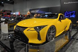 lexus f type yellow lexus unveiled at sema first modified lc 500 in history auto types