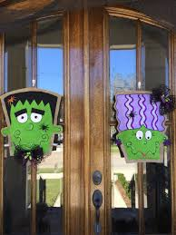 double frankenstein and bride burlap door hangers burlap