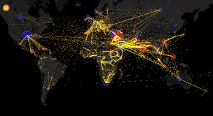 all the world s immigration visualized in 1 map metrocosm