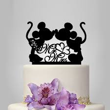 mickey and minnie wedding mickey and minnie mouse silhouette cake topper mr and mrs wedding