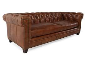 Mathis Furniture Ontario by Button Tufted Leather 90