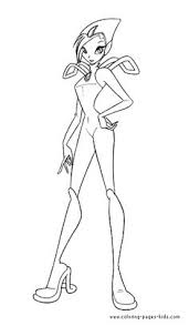 stormy winx club color cartoon characters coloring pages