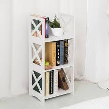 amazon com dline white wood u0026plastic storage shelf bookcase