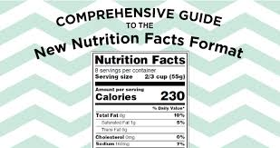 comprehensive guide to the new nutrition facts format jenn david