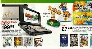 target black friday nintendo 3ds games target ad lists