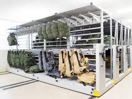 mobile shelving high density weapons lockers gun lockers