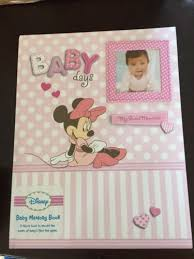 baby girl memory book disney minnie mouse baby girl keepsake record memory book new