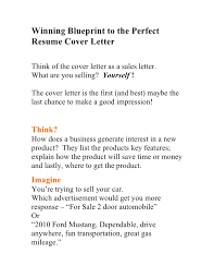 perfect resume cover letter perfect cover letter for resume