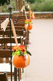 pumpkin aisle wedding decor for an october wedding beautiful