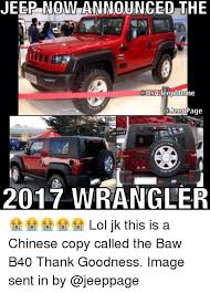 Meme Wrangler - jeep now announced the gitsaneen meme del page 2017 wrangler