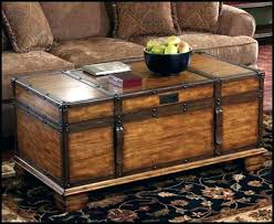 vintage wood coffee table antique trunk coffee table living room chest treasure cocktail