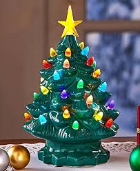 nostalgic ceramic tree led lighted mini