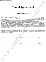 rental agreement template download page word excel formats