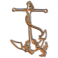 anchor wood anchor rope style 2 mdf wood shape