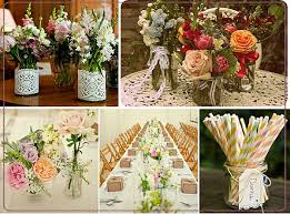 wedding flowers jam jars diy reception vases using jam jars and baked bean tins