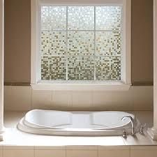 privacy windows bathroom gila clear mosaic glass scenes window film gila window film