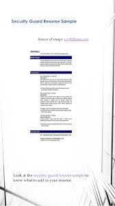 Entry Level Security Guard Resume Sample by How To Create Resume Best Resume Samples In 2016