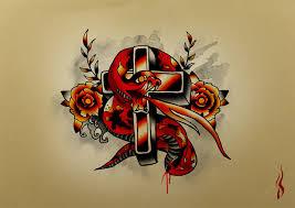 snake cross by bern z on deviantart