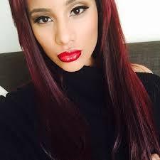 cyn santana burgundy hair my everything