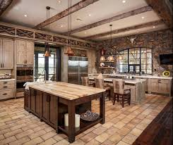 Rustic Oak Kitchen - 15 rustic kitchen designs with exposed roof beams rilane