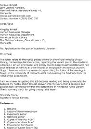 Resume Format For Librarian Cover Letter Library