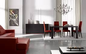 modern red leather dining chairs dining table set seats ideas with contemporary room sets images