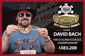 2017 world series of poker final table david bach wins second bracelet of 2017 world series of poker