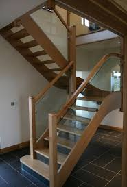 Glass Staircase Design Oak Staircases Staircase Design From Broadleaf