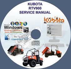 kubota utv rtv 900 service manual rtv900 on cd www