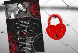 Red And Black Wedding Invitations Color Monday Classic Black White U0026 Redtruly Engaging Wedding Blog