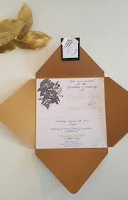 gold u0026 navy envelope fold sample love posy weddings