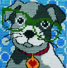 permin with glasses kits for needlepoint kit 9124